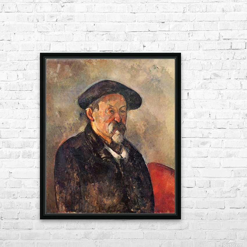 Self Portrait with Beret by Cezanne HD Sublimation Metal print with Decorating Float Frame (BOX)