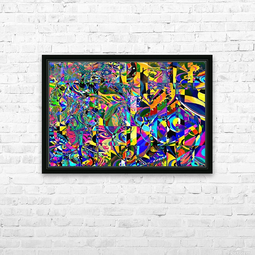 Eclosion fractale HD Sublimation Metal print with Decorating Float Frame (BOX)
