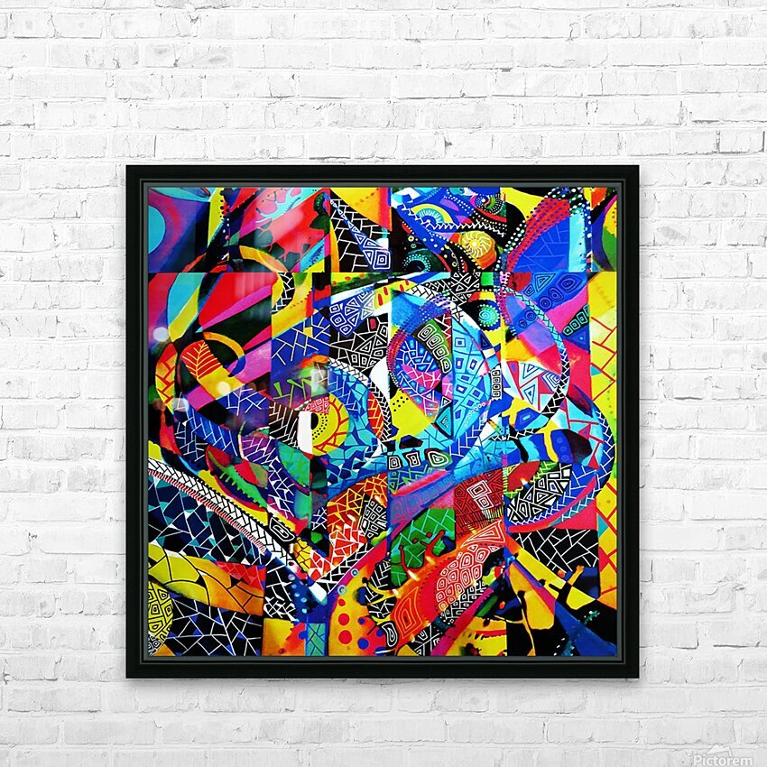 Formule abstraite HD Sublimation Metal print with Decorating Float Frame (BOX)
