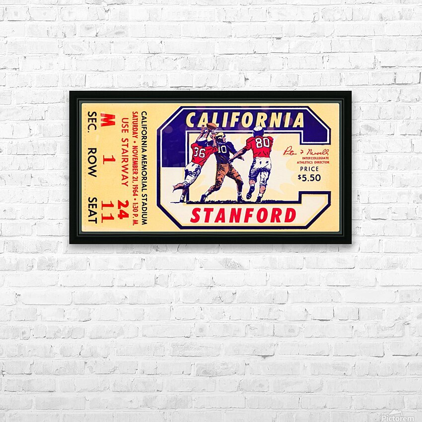 1964 California vs. Stanford HD Sublimation Metal print with Decorating Float Frame (BOX)