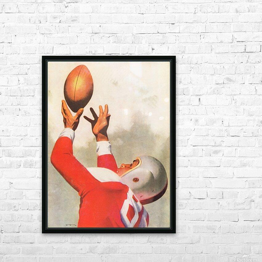 Sports Artist Lon Keller Football Art 1947 HD Sublimation Metal print with Decorating Float Frame (BOX)