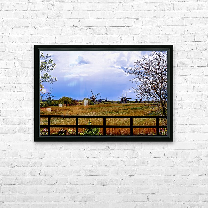 Windmills in Spring HD Sublimation Metal print with Decorating Float Frame (BOX)
