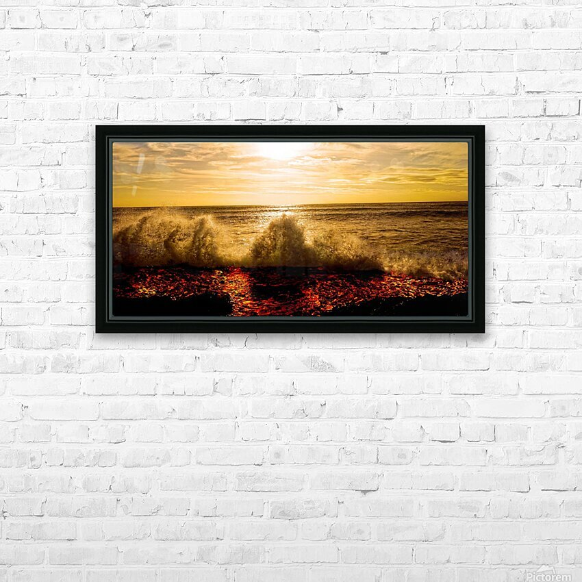 Kilauea Lava Flow HD Sublimation Metal print with Decorating Float Frame (BOX)