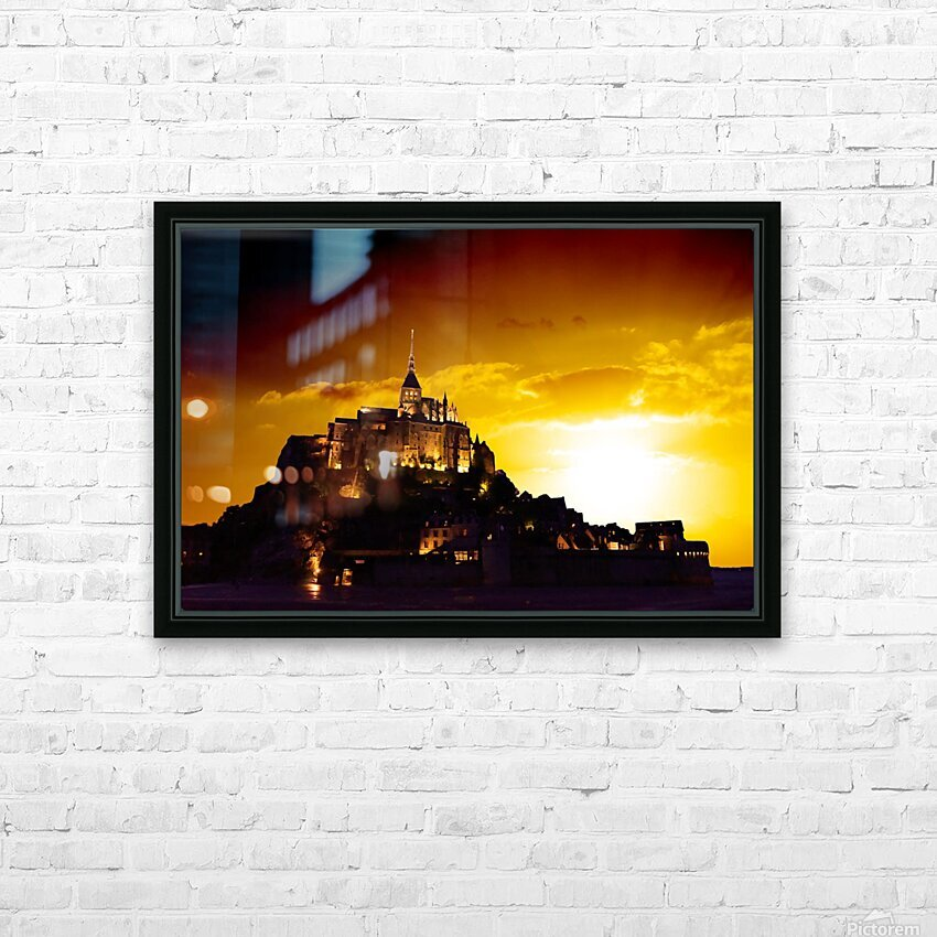 Majestic Mount Saint Michael HD Sublimation Metal print with Decorating Float Frame (BOX)