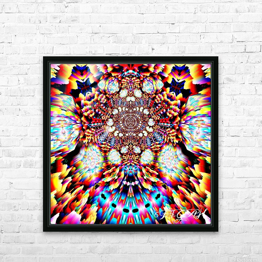 Happy place HD Sublimation Metal print with Decorating Float Frame (BOX)