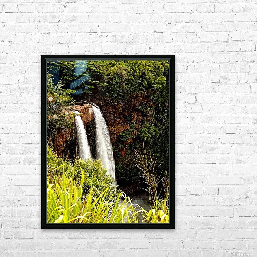 Kauai Waterfalls HD Sublimation Metal print with Decorating Float Frame (BOX)