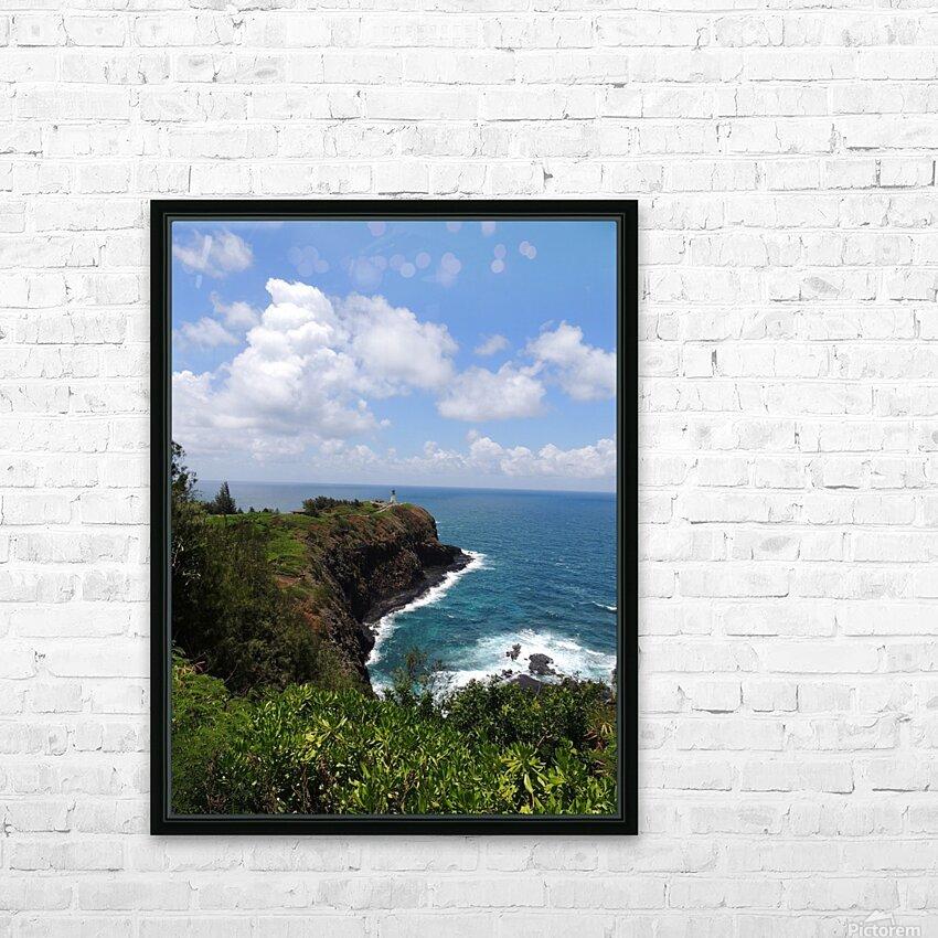 Kauai Lighthouse HD Sublimation Metal print with Decorating Float Frame (BOX)