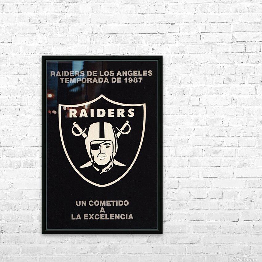 1987 Raiders Un Cometido A La Excelencia Poster HD Sublimation Metal print with Decorating Float Frame (BOX)