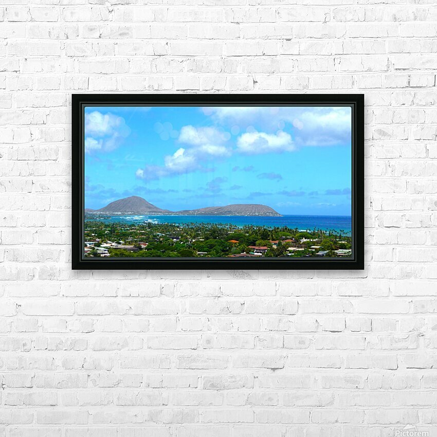 Scenic Hawaii HD Sublimation Metal print with Decorating Float Frame (BOX)
