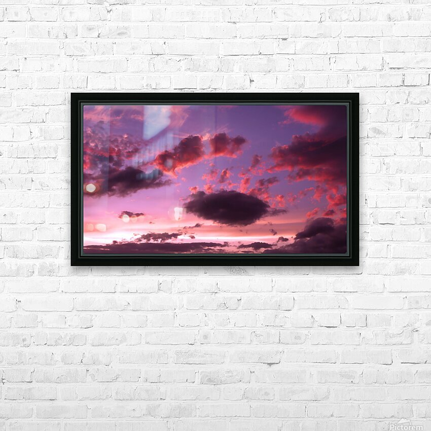 Color Study 4 HD Sublimation Metal print with Decorating Float Frame (BOX)