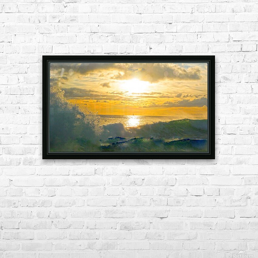 Into the Sunset HD Sublimation Metal print with Decorating Float Frame (BOX)
