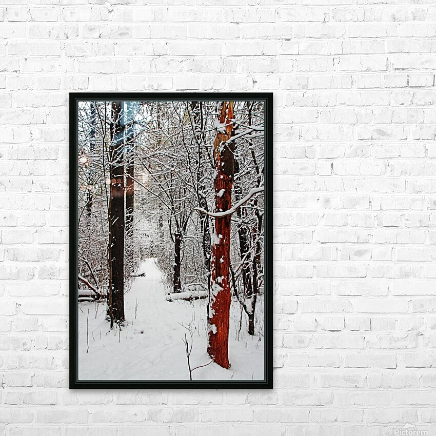 Decked In Snow HD Sublimation Metal print with Decorating Float Frame (BOX)