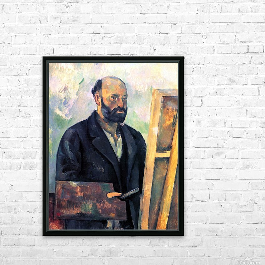 Self-portrait with Pallette by Cezanne HD Sublimation Metal print with Decorating Float Frame (BOX)