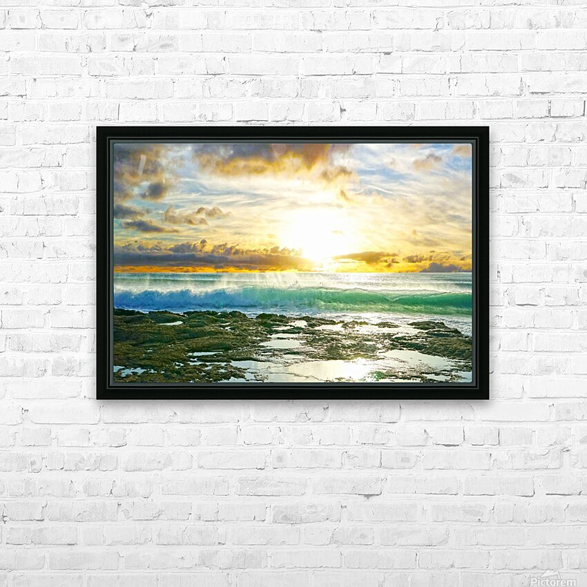 Changing of the Tides HD Sublimation Metal print with Decorating Float Frame (BOX)
