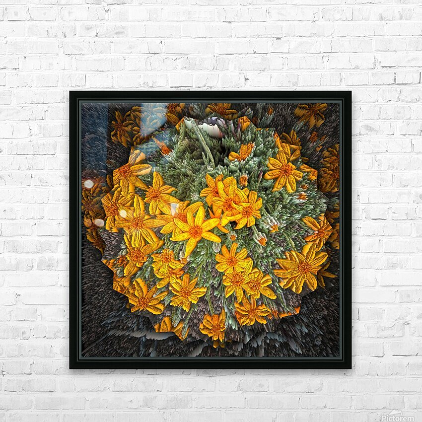 Textures HD Sublimation Metal print with Decorating Float Frame (BOX)