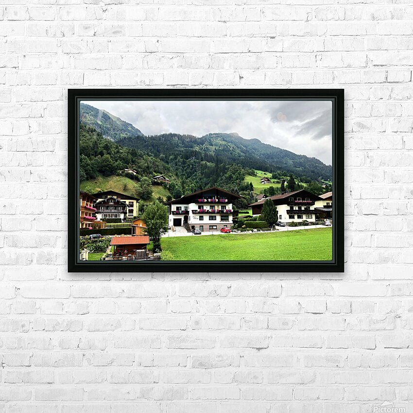 Hofgastein Dolomities Alpen HD Sublimation Metal print with Decorating Float Frame (BOX)