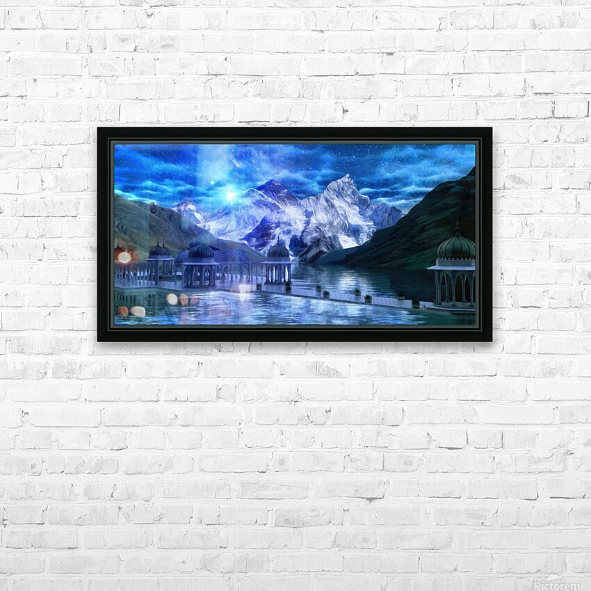 Arcturus Temple HD Sublimation Metal print with Decorating Float Frame (BOX)
