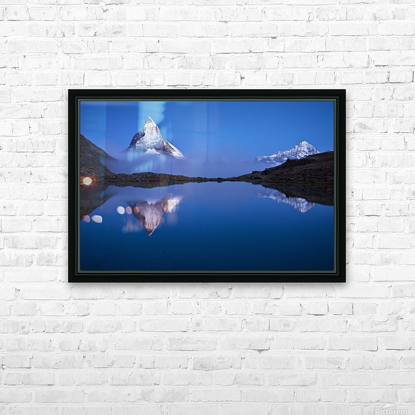 Night Mirror HD Sublimation Metal print with Decorating Float Frame (BOX)