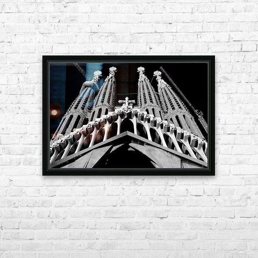 the Cathedral - La Sagrada Familia HD sublimation métal imprimé avec décoration flotteur cadre (boîte)
