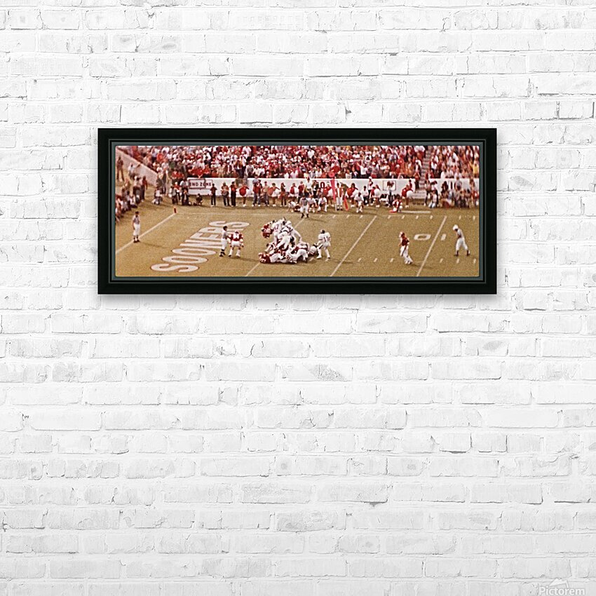 1982 Oklahoma vs. OSU Marcus Dupree Touchdown HD Sublimation Metal print with Decorating Float Frame (BOX)