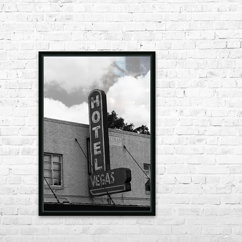 HOTEL VEGAS HD Sublimation Metal print with Decorating Float Frame (BOX)