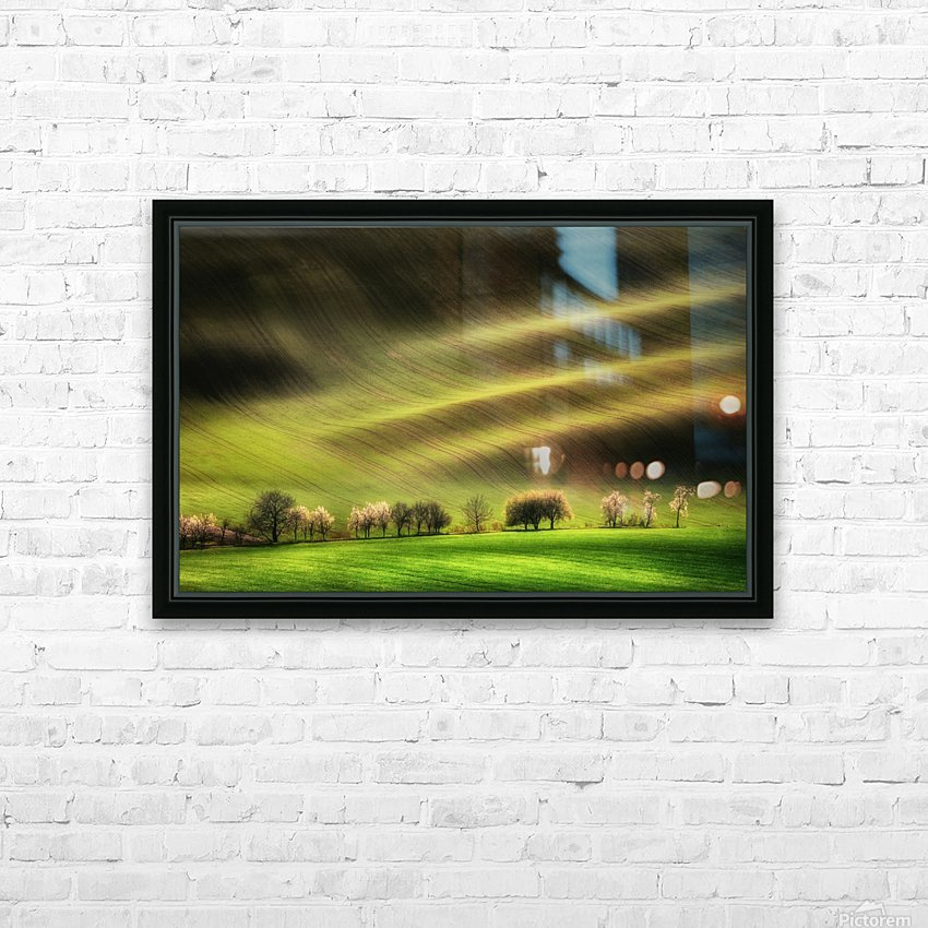 Moravian Fields HD Sublimation Metal print with Decorating Float Frame (BOX)