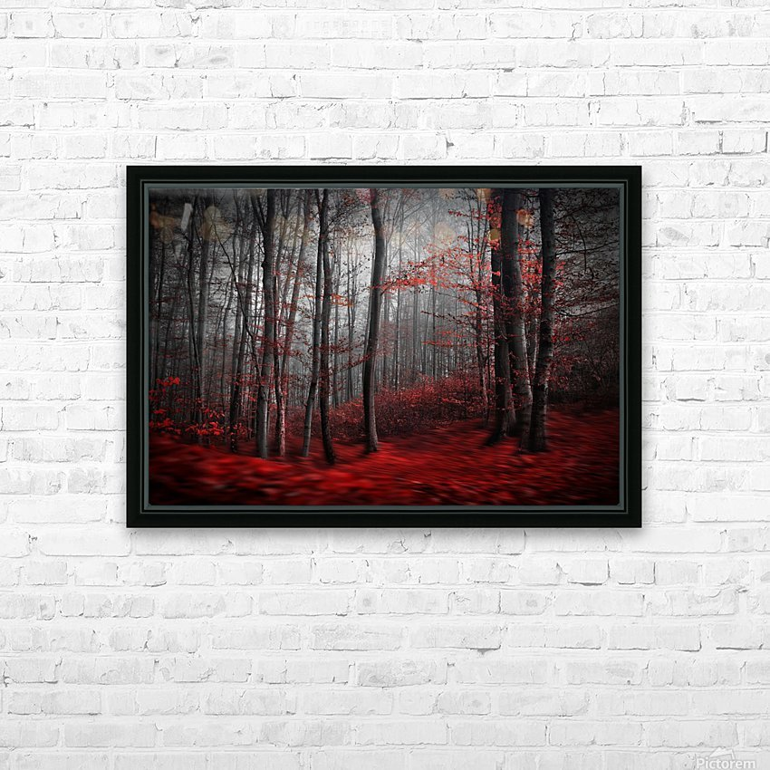 Bloody River HD Sublimation Metal print with Decorating Float Frame (BOX)