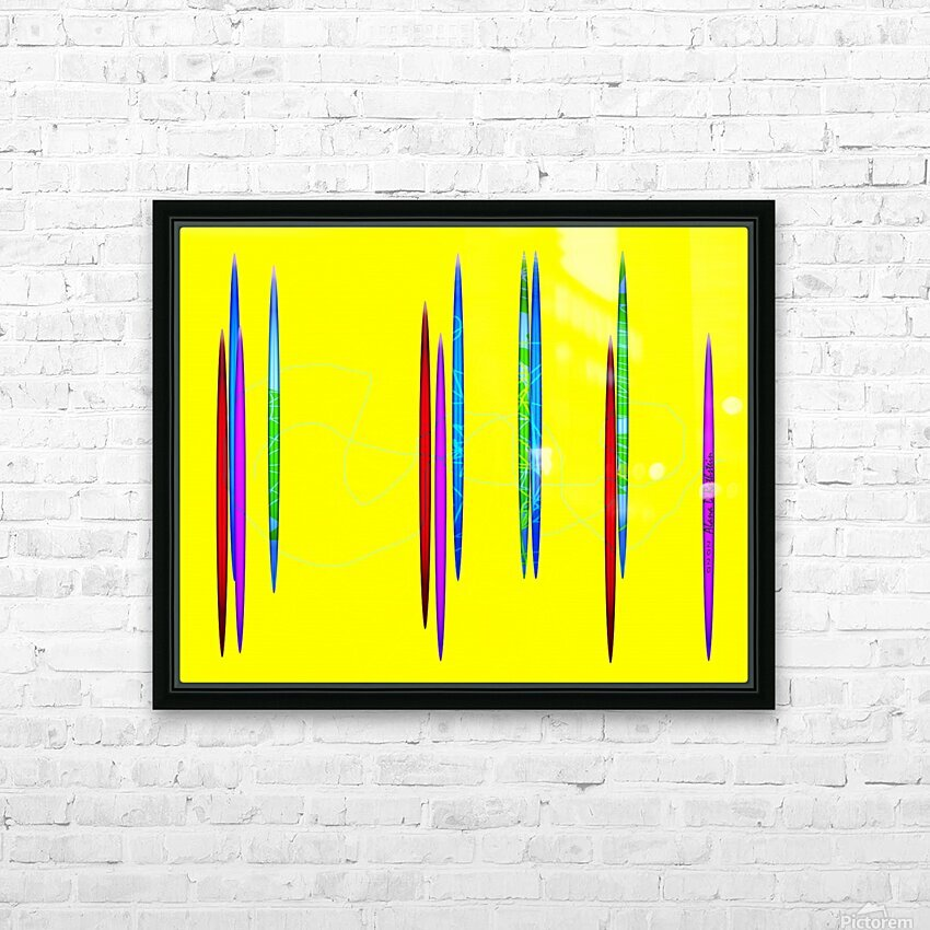 HorizonYellow HD Sublimation Metal print with Decorating Float Frame (BOX)