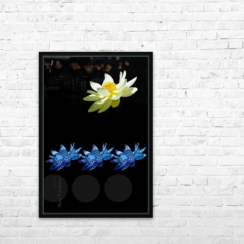 Lotus 1 HD Sublimation Metal print with Decorating Float Frame (BOX)
