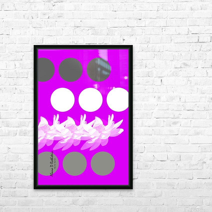Lotus 5 HD Sublimation Metal print with Decorating Float Frame (BOX)