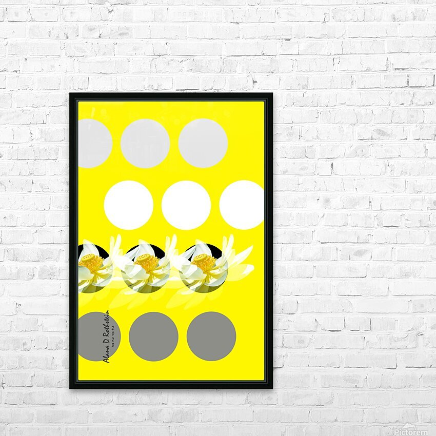 Lotus 3 HD Sublimation Metal print with Decorating Float Frame (BOX)