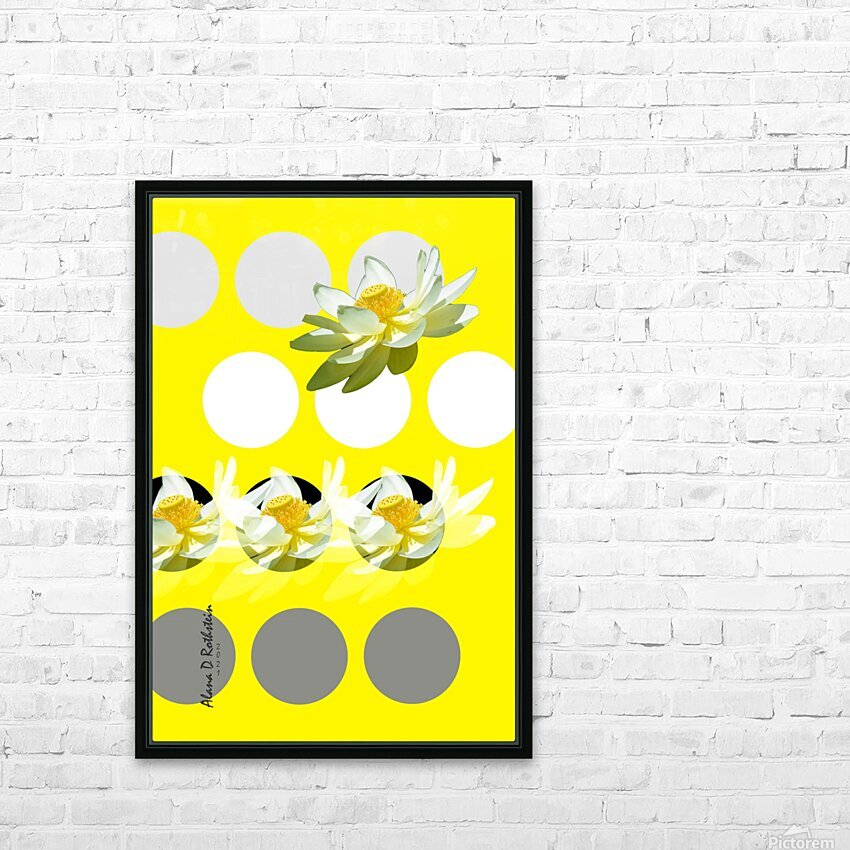 Lotus 2 HD Sublimation Metal print with Decorating Float Frame (BOX)