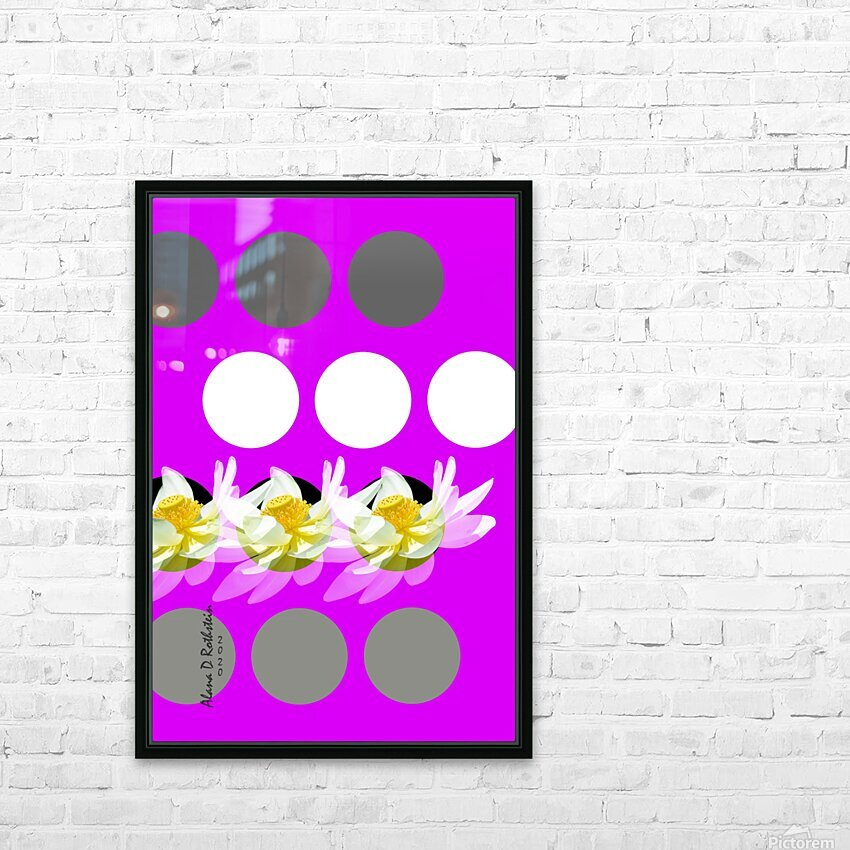 Lotus 4 HD Sublimation Metal print with Decorating Float Frame (BOX)