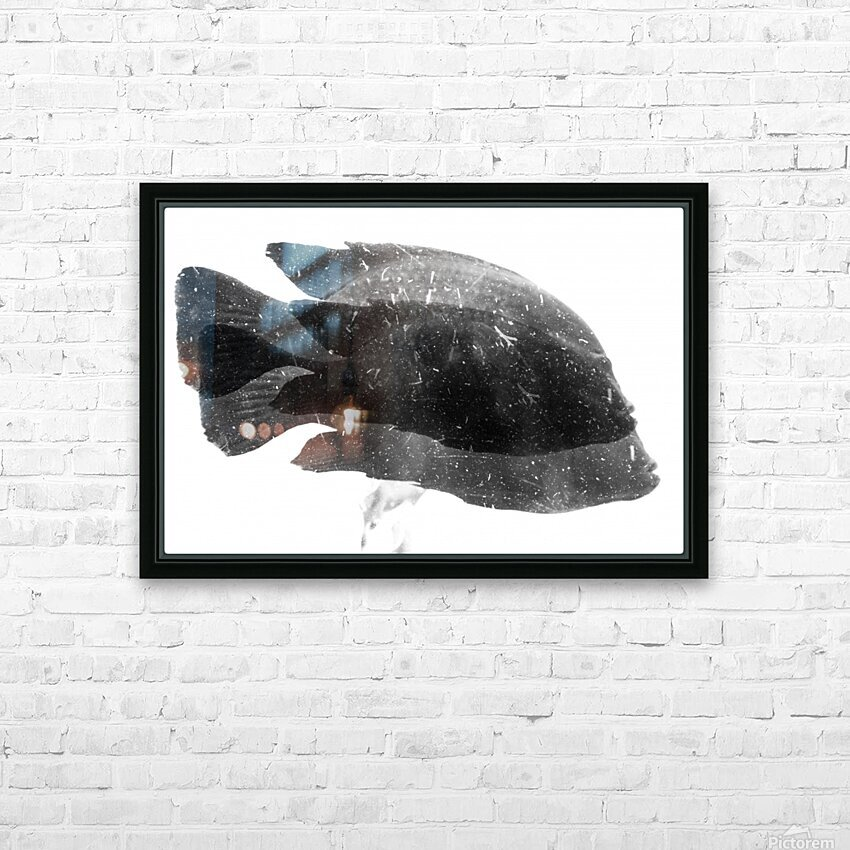 DOS FISHES HD Sublimation Metal print with Decorating Float Frame (BOX)