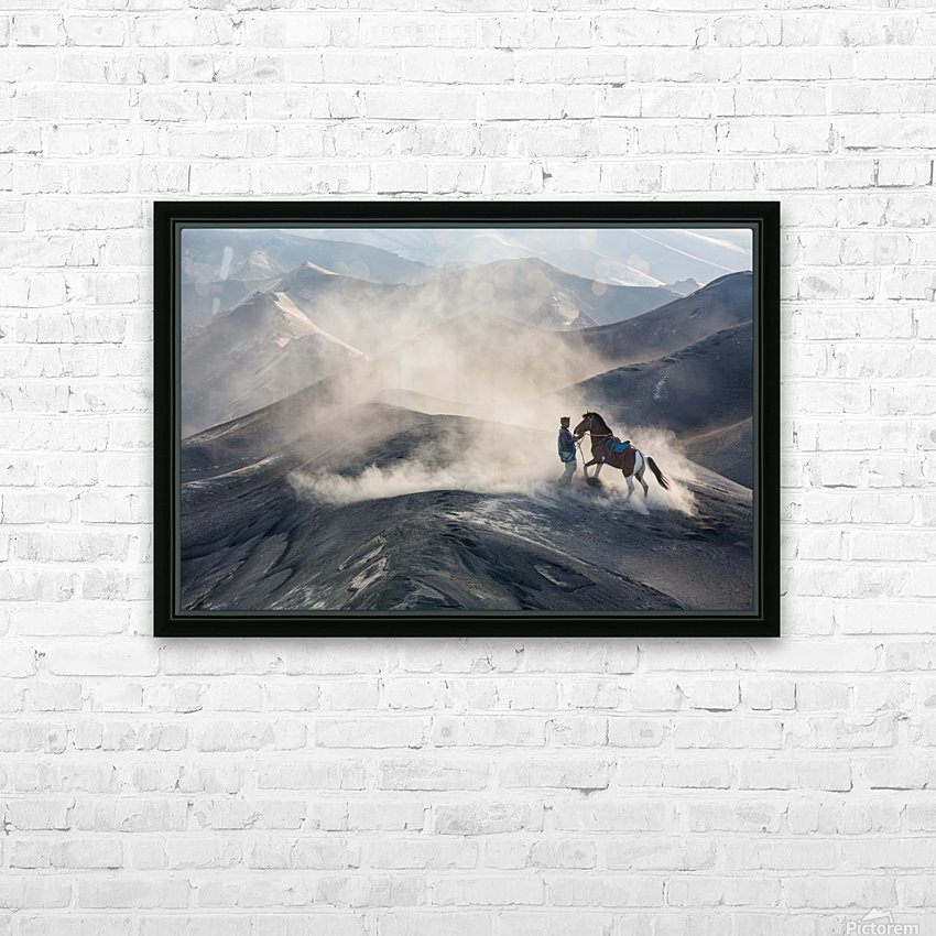 The Horseman HD Sublimation Metal print with Decorating Float Frame (BOX)
