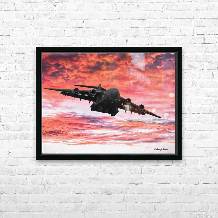 Soaring in the sky HD Sublimation Metal print with Decorating Float Frame (BOX)