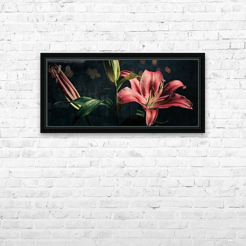 Floraison 1 HD Sublimation Metal print with Decorating Float Frame (BOX)