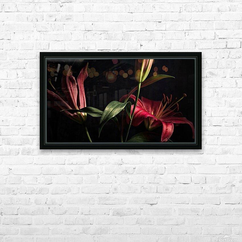 Floraison 2 HD Sublimation Metal print with Decorating Float Frame (BOX)