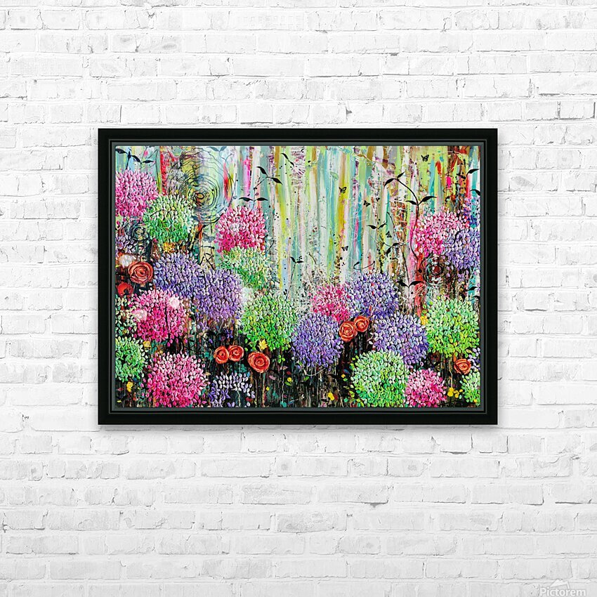 Summer Garden  HD Sublimation Metal print with Decorating Float Frame (BOX)