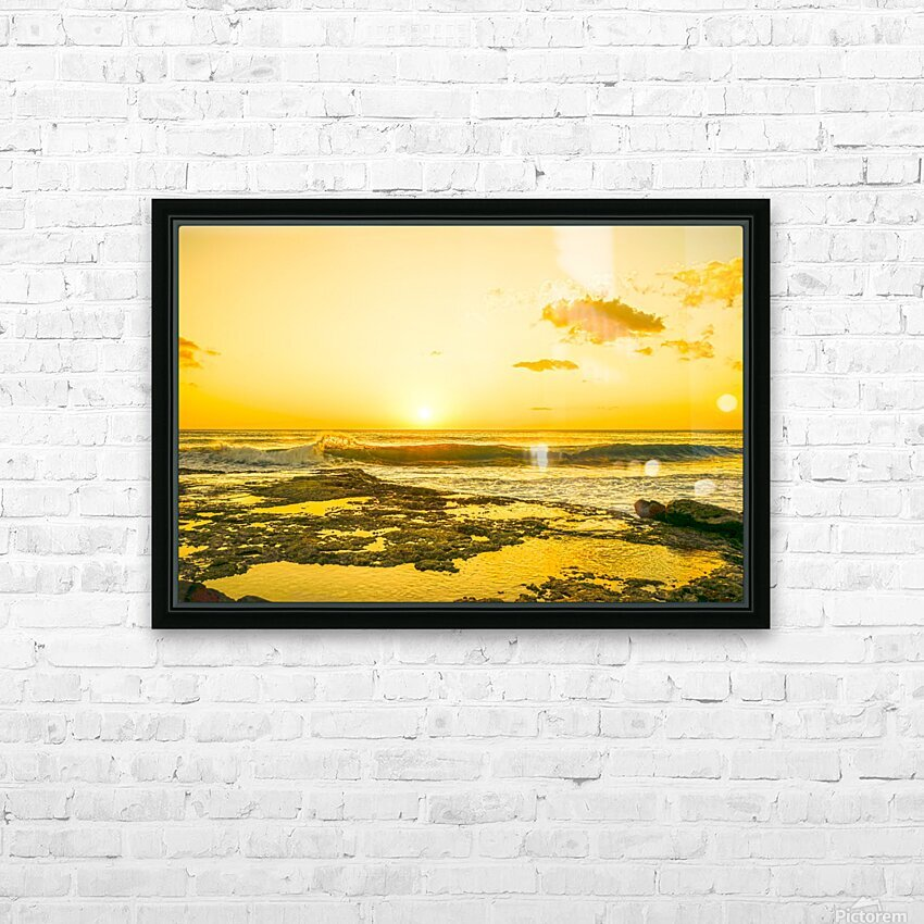 Golden Moment HD Sublimation Metal print with Decorating Float Frame (BOX)