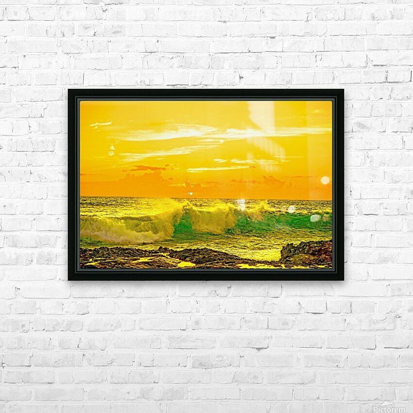 At the Sea Shore HD Sublimation Metal print with Decorating Float Frame (BOX)