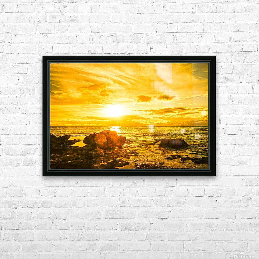 Majestic Sunset HD Sublimation Metal print with Decorating Float Frame (BOX)