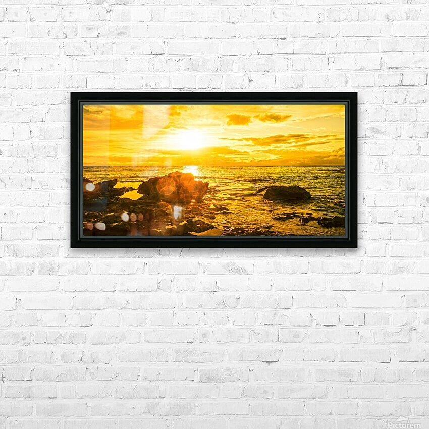 Majestic Sunset Panorama HD Sublimation Metal print with Decorating Float Frame (BOX)
