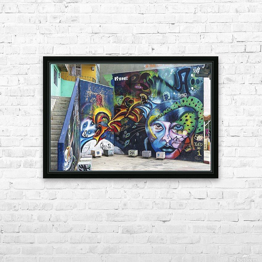 Background Graffiti HD Sublimation Metal print with Decorating Float Frame (BOX)