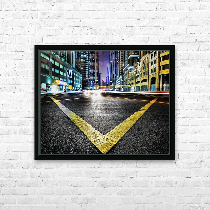 V by Robert Work  HD Sublimation Metal print with Decorating Float Frame (BOX)
