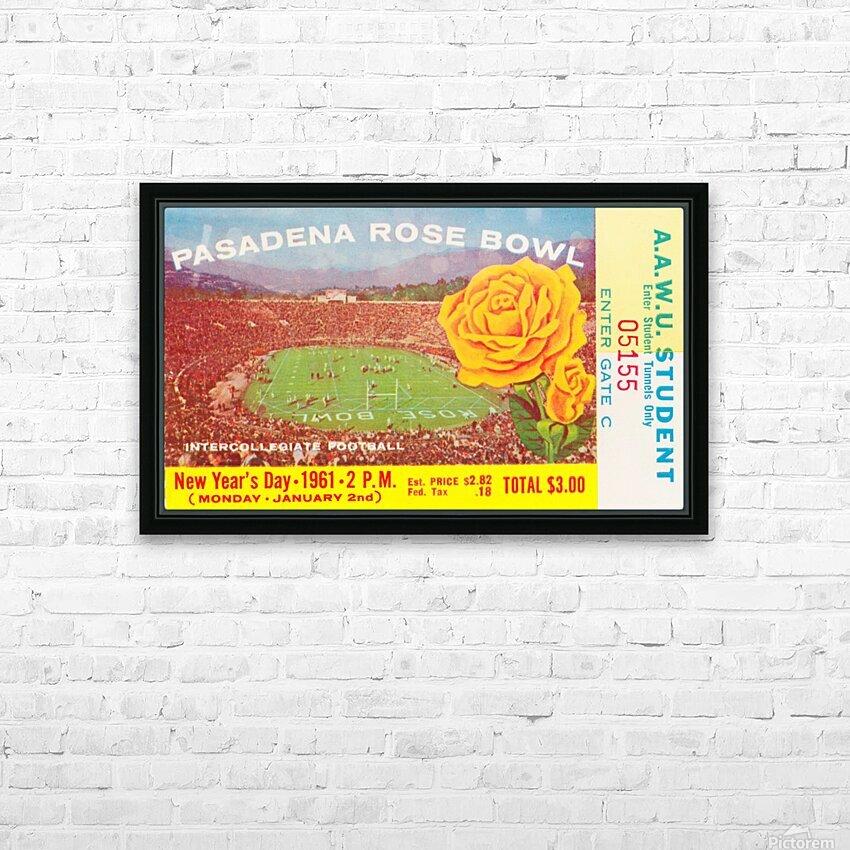 1961 Rose Bowl Washington Win HD Sublimation Metal print with Decorating Float Frame (BOX)
