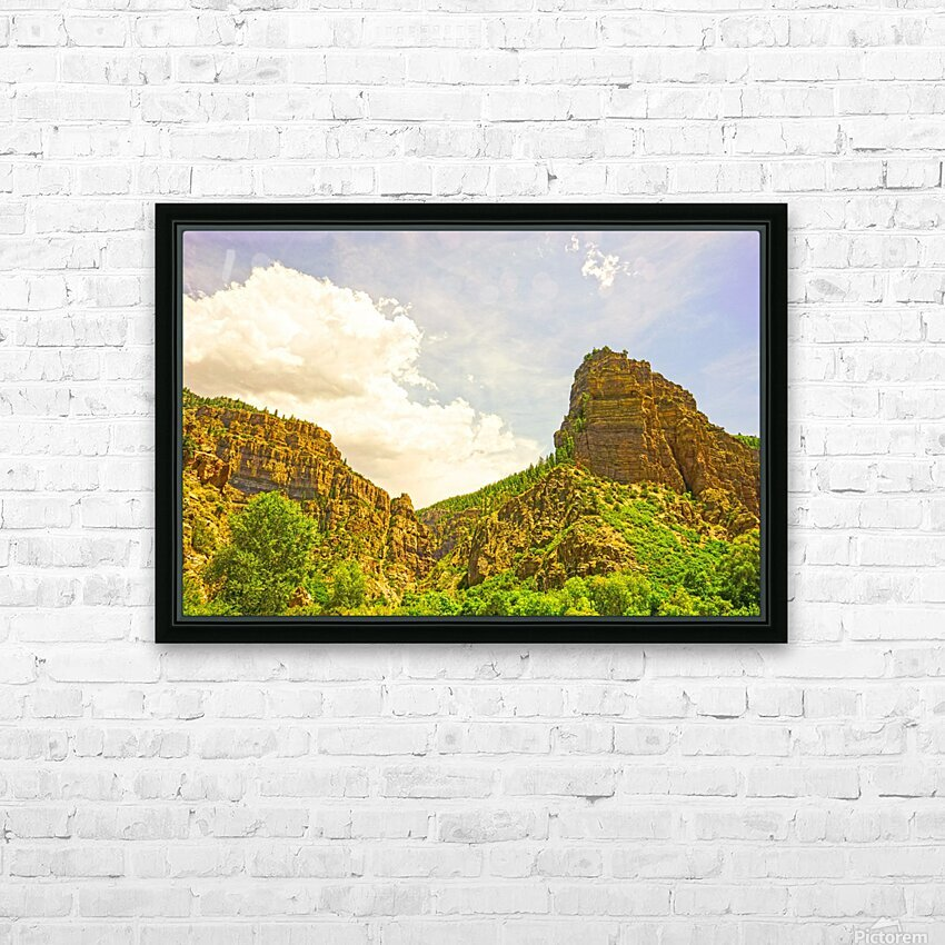 Golden Colorado HD Sublimation Metal print with Decorating Float Frame (BOX)