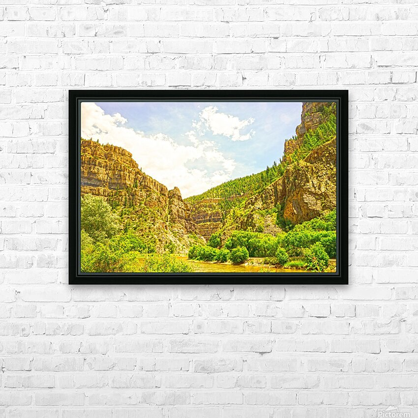 Golden Colorado 2 HD Sublimation Metal print with Decorating Float Frame (BOX)