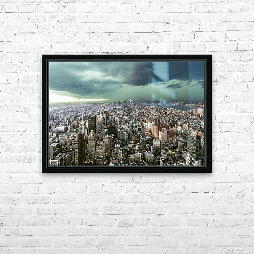 New-York under storm by Pagniez   HD Sublimation Metal print with Decorating Float Frame (BOX)