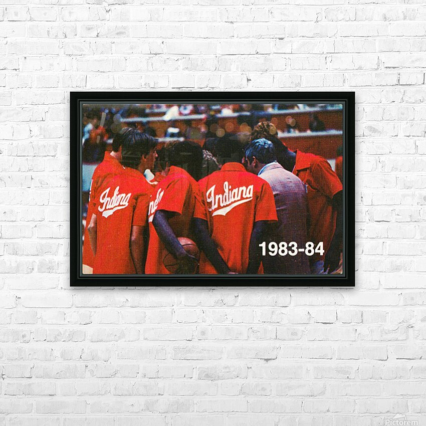 1983 Indiana Basketball Art HD Sublimation Metal print with Decorating Float Frame (BOX)
